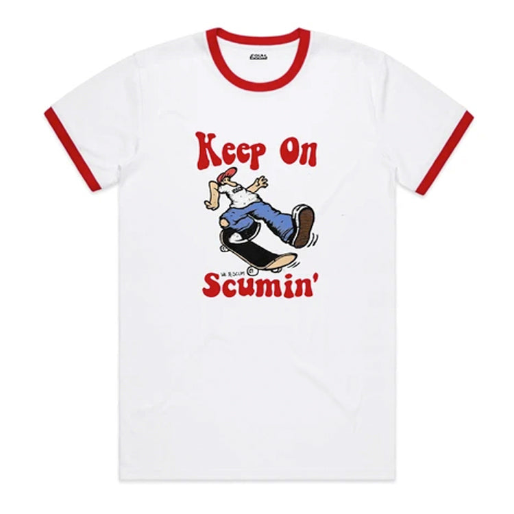 Fake Scum Keep On Scummin' Ringer T-Shirt