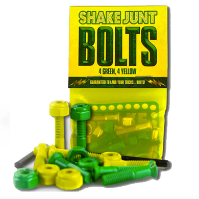 Shake Junt Bag O' Bolts 4 Yellow 4 Green Phillips Head Skateboard Bolts