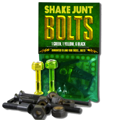 Shake Junt Bag O' Bolts 1 Green 1 Yellow Phillips Head Skateboard Bolts