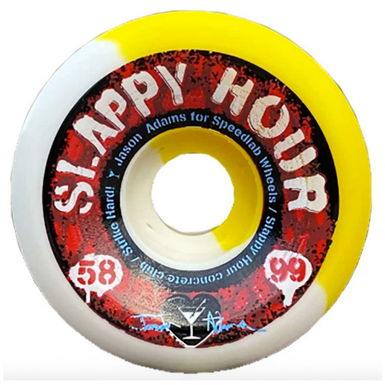 Speedlab Wheels 'Slappy Hour' Jason Adams Pro Model Skateboard Wheels 99a 58mm