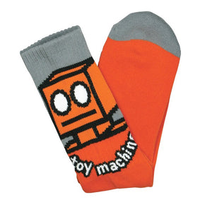 Toy Machine Robot Socks Orange