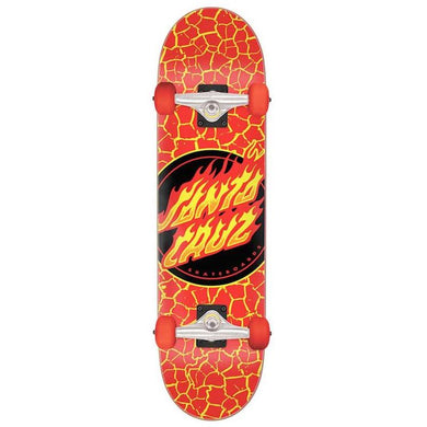 Santa Cruz Skateboards Flame Dot Red Complete Skateboard 8.25
