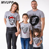 Papa Mama Little Lion family t shirt