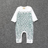 Penguin, Bear, Ruler, Pattern Jumpsuit 6M-24M