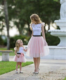 Mommy and Daughter T-shirt+ Skirt 2pcs Outfit