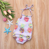 Lavender Pineapples Swimsuit  newborn- 18m