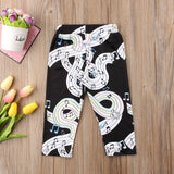 Music Printed Long Pants 6M-5
