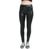 Faux Leather Leggings Mommy and a Daughter Stretchy leggings pants
