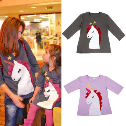 Mother & Daughter Unicorn Matching Shirt