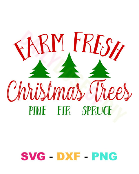 FARM FRESH CHRISTMAS TREES CUT FILE