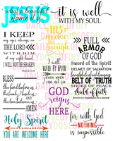 Faith Set of 10 SVG Files