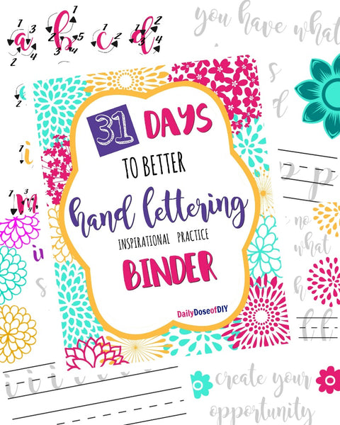 31 Days to Better Hand Lettering Practice Sheets