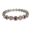 A Vintage Bracelet set with Pink and Amethyst Stones