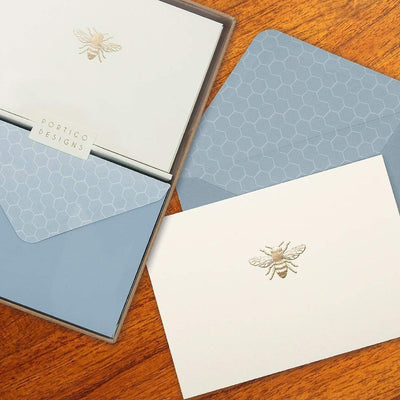 Embossed Note Cards - Bee