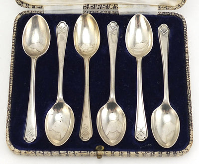 A Set of Silver Golf Teaspoons, Sheffield 1933