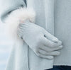 Alpaca Gloves, Duck Egg Blue - annabeljames
