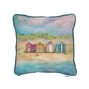 Beach Huts at Sunrise Cushion