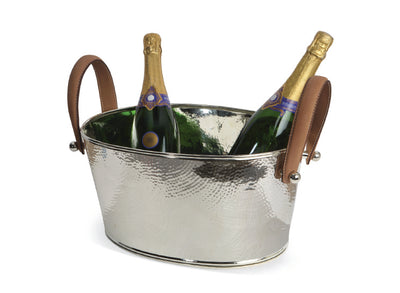 Leather Handled Champagne Bath, Small