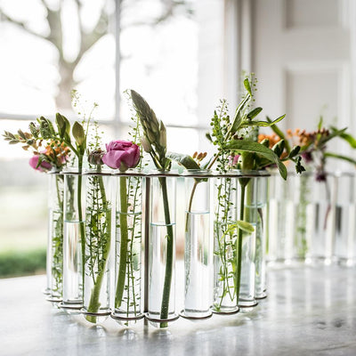 Test Tube Flower Vase - Circular