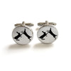 Cufflinks - Sparring Hares - annabeljames