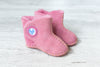 Baby Boots - Sheepskin, Pink - annabeljames