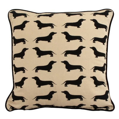 Dachshund Cushion Black
