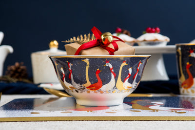 Festive Geese Candy Bowl