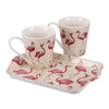 Flamingo Mugs and Tray Set
