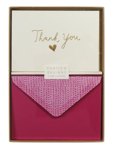 Embossed Thank you Note Cards