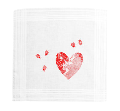 Heart and Ladybird Hanky Box