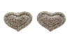 Vintage Sterling Silver Heart Earrings