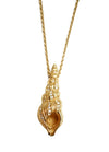 Vintage Conch Shell Pendant on Chain