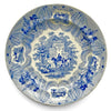 A Vintage Blue and White Horse Plate