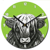 Highland Cow Clock - annabeljames