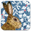 Christmas Hare Coaster