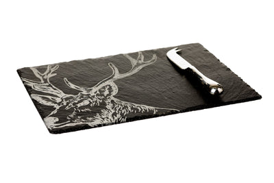 Cheese Board and Knife Gift Set - Stag