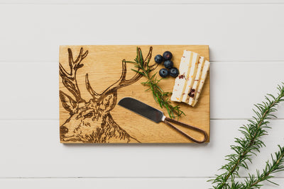 Stag Cheese Board and Knife Gift Set