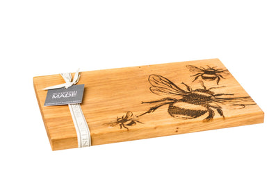 Oak Serving Board - Bee