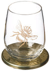 Bee Engraved Tumbler with Coaster