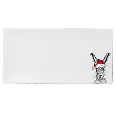 Christmas Hare Serving Tray