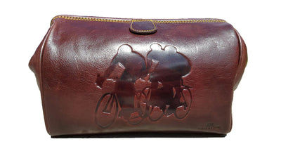 Cyclists Leather Washbag - annabeljames