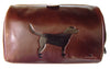 Luxury Leather Washbag - Labrador