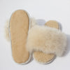 Luxury Alpaca Fur Slippers - Champagne