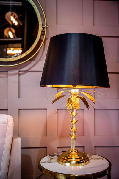Palm Tree Table Lamp, Gold