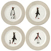 Penguin Plates - set of 4