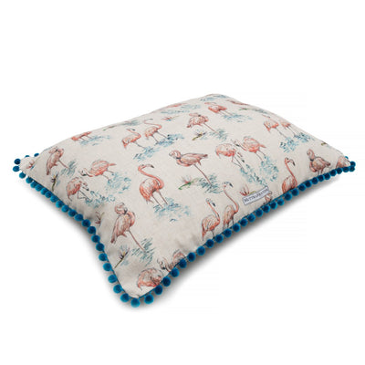 Flamingo Linen Dog Bed Pillow - annabeljames