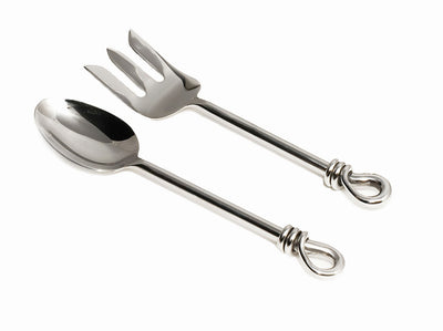 Polished Knot Salad Servers - annabeljames