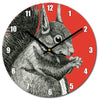 Red Squirrel Clock - annabeljames