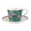 Flamingo Cup and Saucer