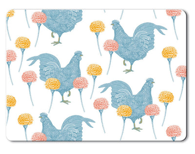 Chicken and Carnation Placemats - annabeljames